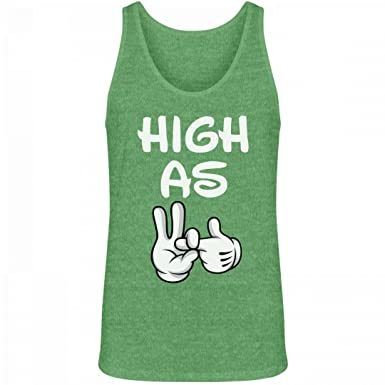 High As Fuck: Unisex Canvas Jersey Tank Top