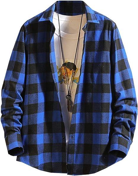 [スカイシイ] 7カラー シャツ チェック柄シャツ 長袖 カジュアル シンプル ギンガムチェック S~XL