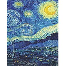 Van Gogh's Starry Night, Artist Drawing Pad: BLANK Sketchbook (Extra Large-Made with Standard White Paper-Best for Crayons, Colored Pencils, Watercolor Paints and Very Light Fine Tip Markers)