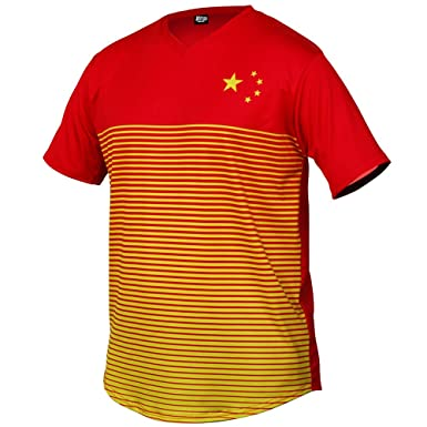 2298f3299 China Rise Soccer Jersey-Red-Youth X-Small