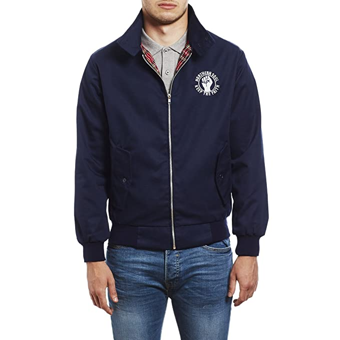 Northern Soul Keep The Faith Embroidered Harrington Chaqueta de Hombre by 45REVS.