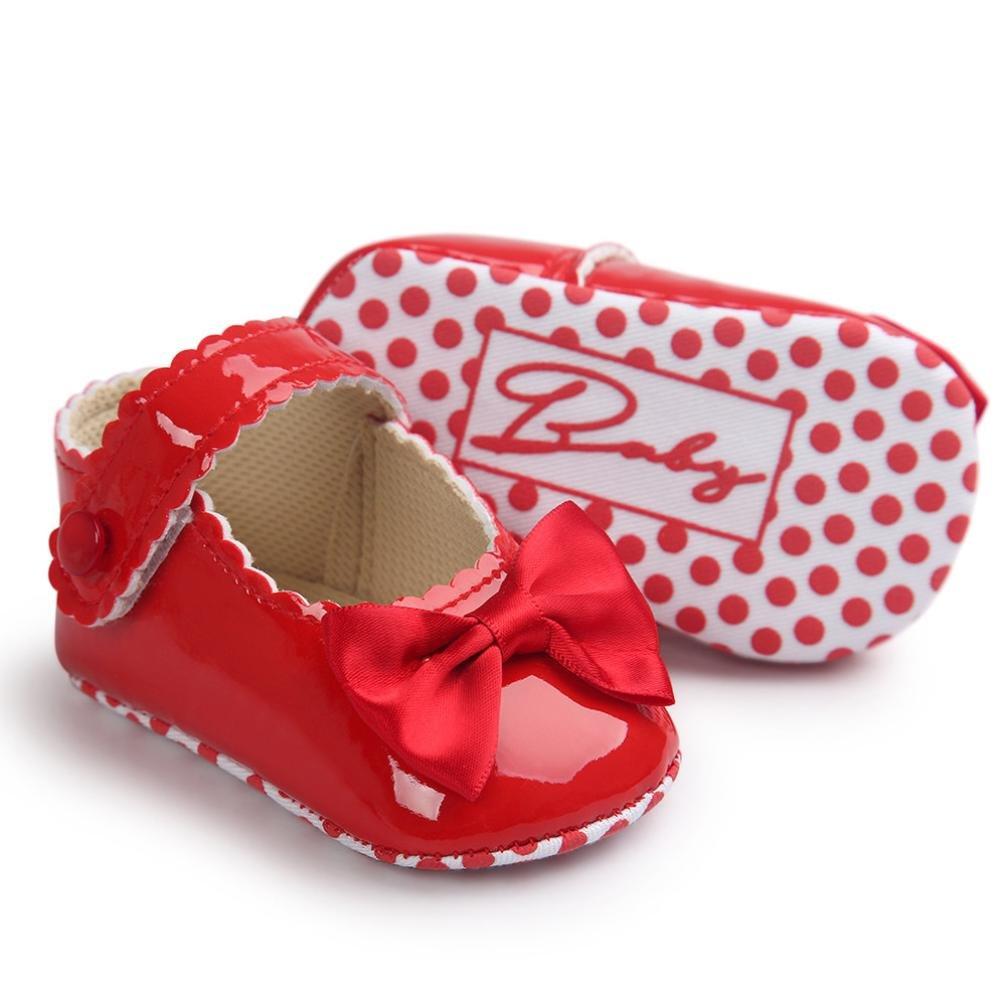 f4de720dee396 DAY8 Chaussure Bébé Fille Princesse Chaussure Bébé Fille Premier Pas  Bapteme Bowknot Fashion Chaussures Bébé Garçon Agrandir l image