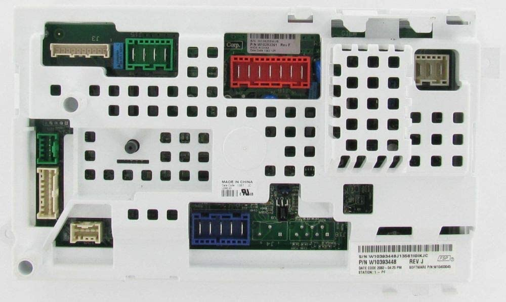 CoreCentric Laundry Washer Control Board replacement for Whirlpool W10393448 / WPW10393448 (Renewed)