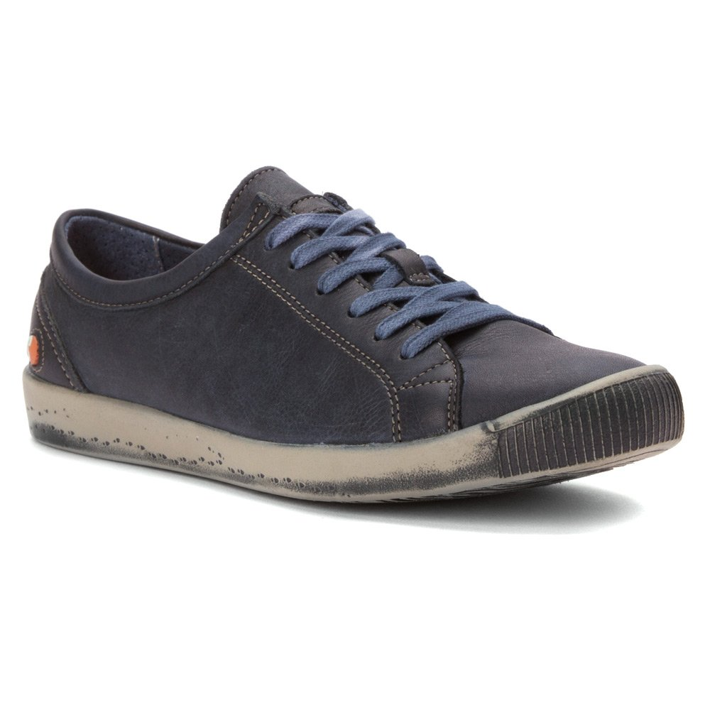 Softinos Women's Isla Sneaker B00ZK6R9H6 37 EU US Women Navy Washed Leather