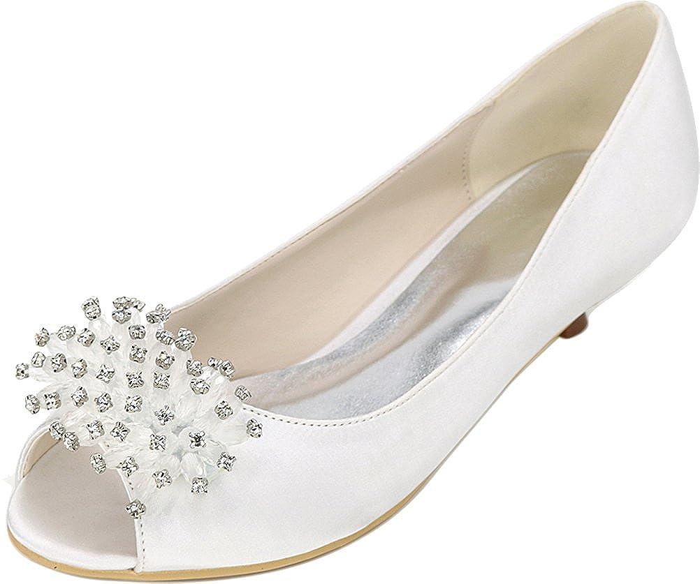 0700-01K B00KH94OWY Ladies Smart Fashion Kitten Bride 7990 Bridesmaid Party Prom Wedding Dress Work Peep Toe Comfort Kitten Heel Satin Sandals White 37 EU - a185fa9 - robotanarchy.space
