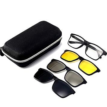 c11a956a68 NDY Gafas de Sol Montura de Gafas Espejo Plano miopía Colgar Hebilla  polarización magnética 3D de Tres Piezas,2268A: Amazon.es: Deportes y aire  libre
