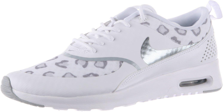 d20a9741f8e77 Nike Womens Air Max Thea White/Pure Platinum/Bamboo/Wolf Grey Sneaker 12 B  - Medium