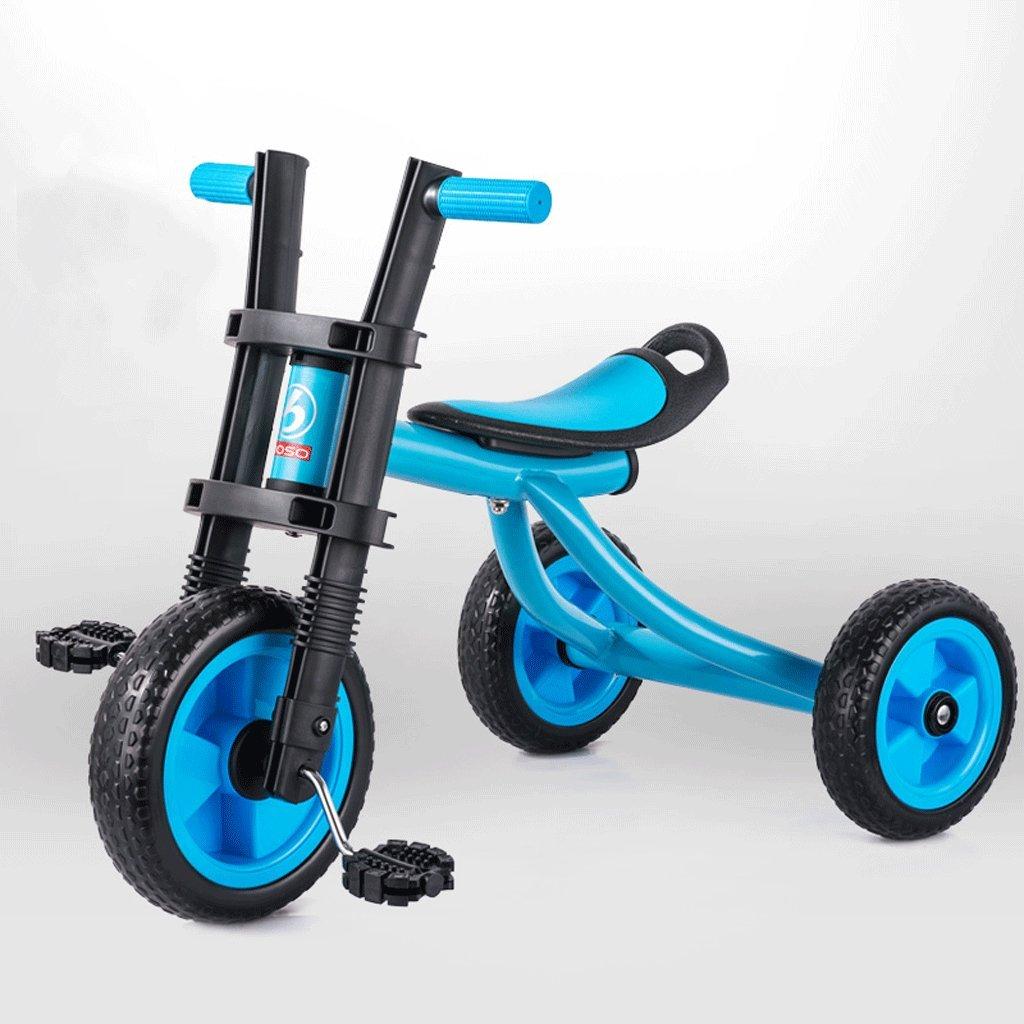 Fenfen子供Tricycleバイク2 – 5歳赤ちゃんおもちゃベビーCarriageキッズ自転車、グリーン、レッド、ブルー B07C8CY4LRブルー