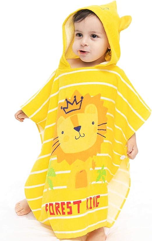 Toalla con capucha para niños, 100% algodón, toalla de playa ...