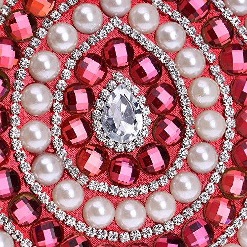 Sacs Main Candy bandoulière à Diamants Mariage Messenger Perles Sacs soirée Women de de red à KYS Sac Color qtxpFq4