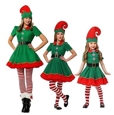Amazon.com: Lucky Shop1234 - Disfraz de elfo de Navidad para ...