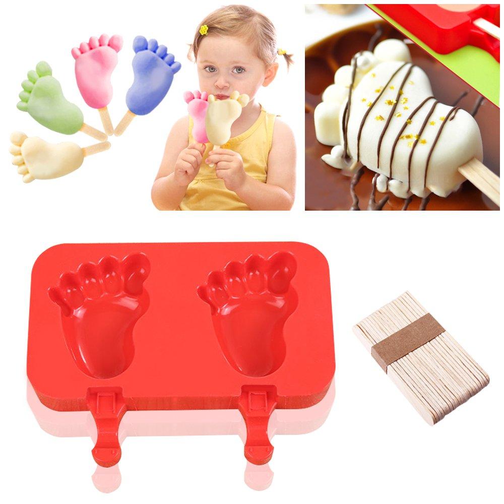 Molde de silicona Ice Cream Bar, didadi [2 paquetes] (silicona), diseño de hielo Pop Mold Popsicle Moldes DIY Ice Cream Jelly Candy Chocolate Jabón ...