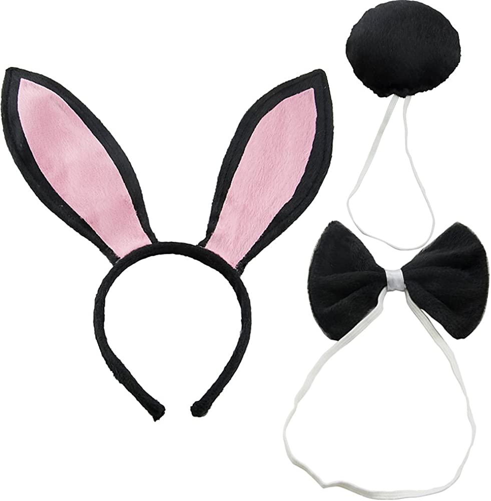 HEADBAND FANCY DRESS PARTY **NEW** GIRLS KIDS SMALL WHITE BUNNY RABBIT EARS