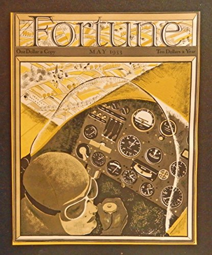 Fortune Magazine, scarce May 1933 Cover art. full color Illustration by Douglas Donald, original 1933 Fortune Magazine Cover Art