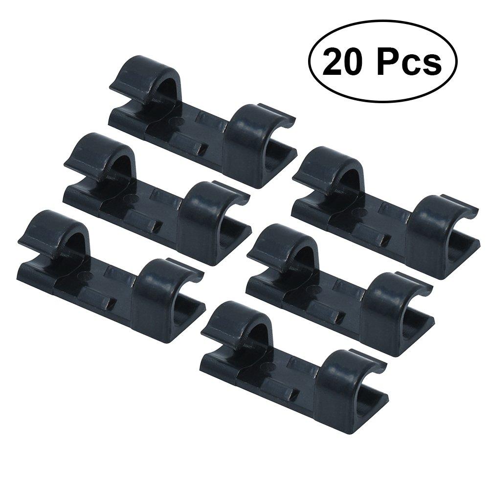OUNONA Clip cavo adesivo per ferma e organizzare cavi in Bianco 20PCS