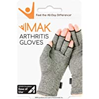 IMAK Compression Arthritis Gloves, Relieves Arthritic Aches, Pain, & Joint Swelling, Open Fingertip Gloves Provide…