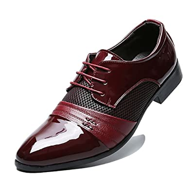 DEARWEN Mens Breathable Oxfords Pointed Toe Business Shoes  B01I4W3J94