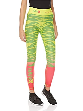 7045e784e3641c MNX Sportswear Sublimation Florida Leggings for Women, Yellow, Green and  Pink