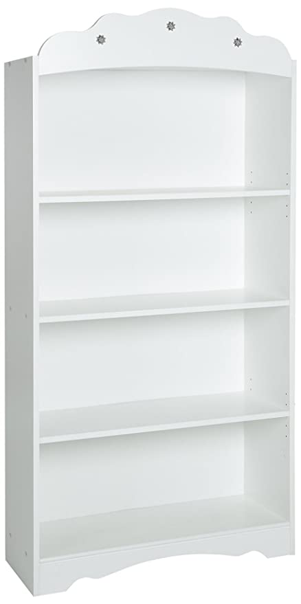 South Shore Tiara Kids 4 Shelf Bookcase   Adjustable Shelves, Pure White