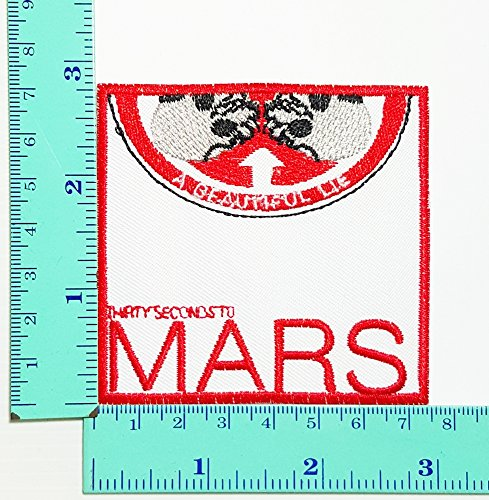 [Thirty Seconds to Mars a Beautiful Lie Heavy Meatal Rock Music Band Patch Logo Sew Iron on Embroidered Appliques Badge Sign] (30 Second Costumes)