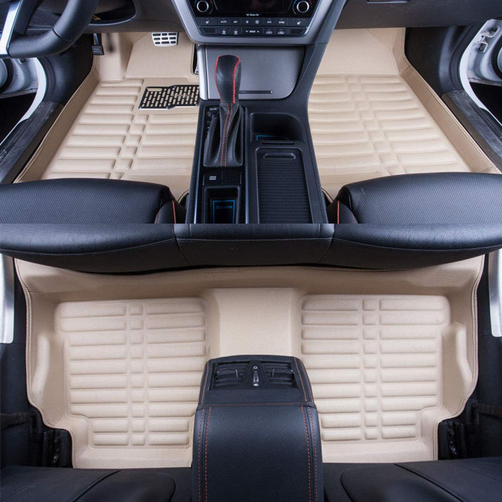 Big Hippo Car Floor Mat Compatible for Honda CR-V 2017 2018 Leather Front/&Rear Waterproof Auto Floor Mat Carpet-All Weather Protector Mat 3 Piece Set Beige