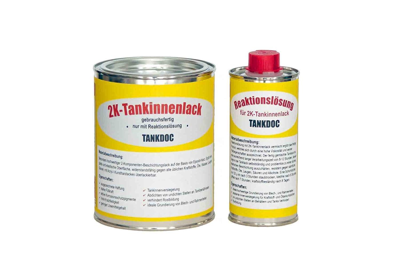 Tankdoc Tanksanierung 2K-Tankinnenlack Versiegelung 675g Farbe rotbraun (2K-Tankinnenlack 675g rotbraun) Tankdoc UG