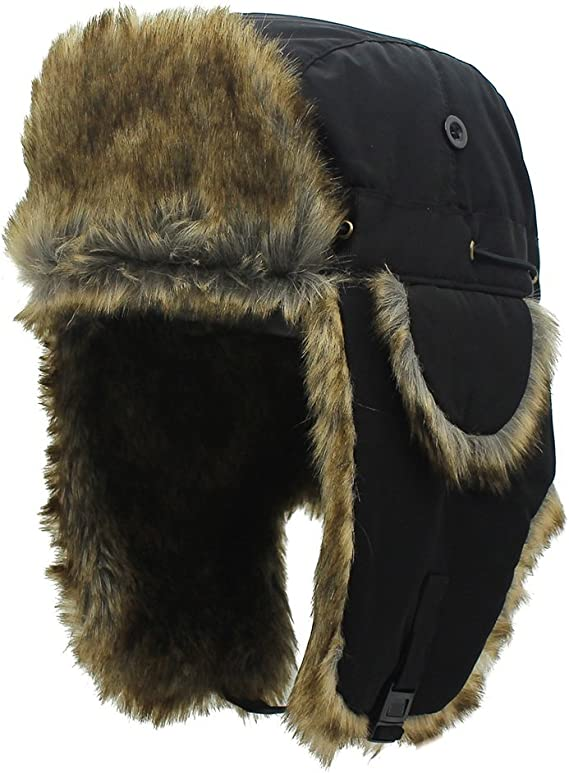 Wintermütze Pelzmütze Russenmütze Fliegermütze Fellmütze Mütze Pilotenmütze warm