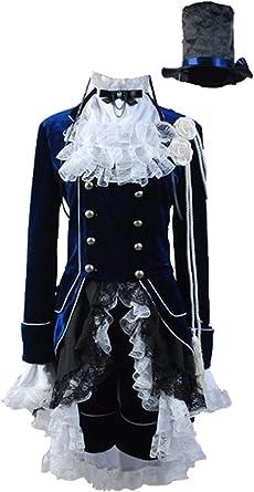Black Butler Ciel Phantomhive Black Dress Cosplay Costume Halloween Party Gift