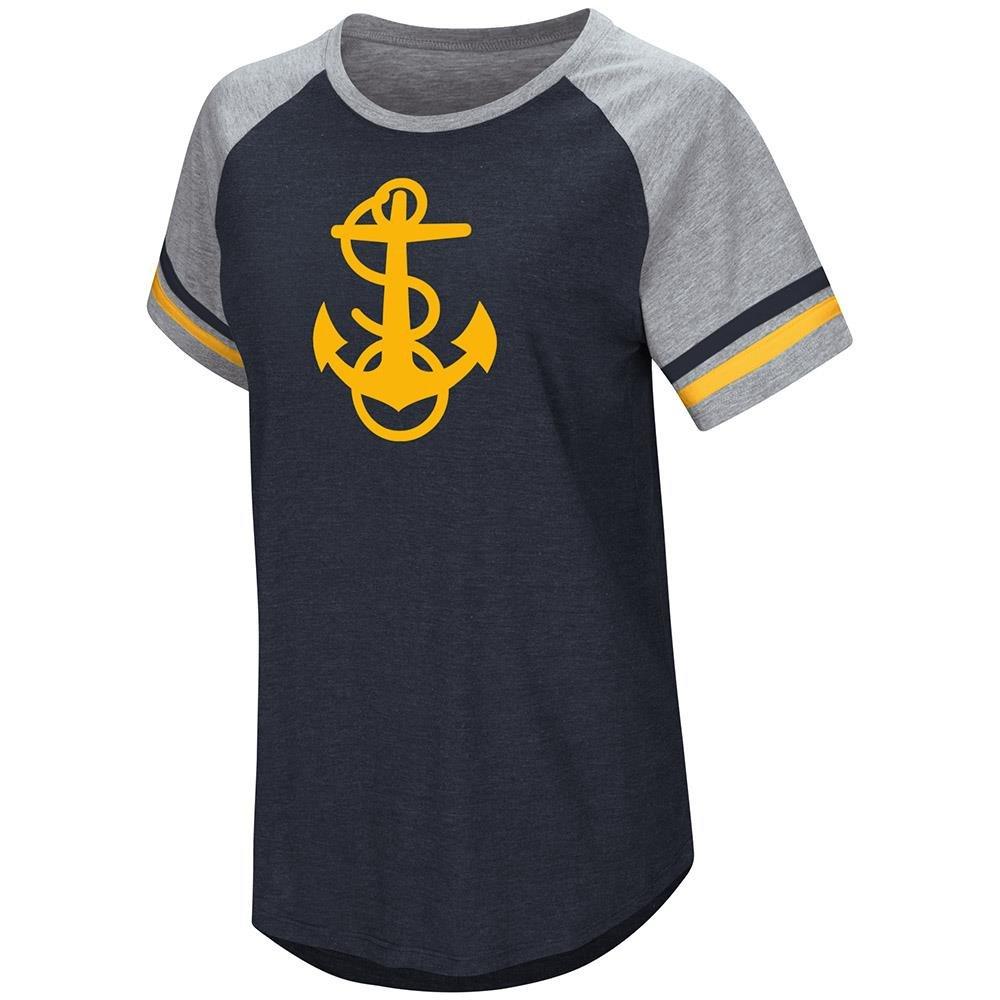 Colosseum Womens Navy Midshipmen半袖Teeシャツ B07C67JQWC  Small