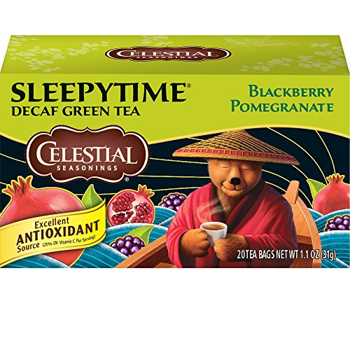 Celestial Seasonings Green Tea, Sleepytime Decaf Blackberry Pomegranate, 20 Count (Pack Of ()