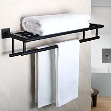 Amazoncom Alise Gz8000 B Bathroom Lavatory Towel Rack Towel Shelf