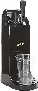 Mind Reader BEERTAP-BLK 40 Oz Beer Tap Dispenser, Battery Powered System, Stainless Steel Growler, Portable Keg, Picnic, Kitchen, Bar, Black, One Size