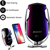 Automatic Clamping Wireless Car Charger Mount, lesgos Infrared Auto-Sens Fast Qi Wireless Car Charger Air Vent Mount for Iphone XR/XS MAX/XS/8/7/6,Samsung S10/S10 /S9/Note 9