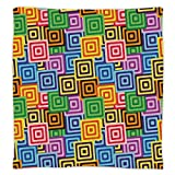 Super Soft Throw Blanket Custom Design Cozy Fleece Blanket,Modern Decor,Ethnic Africa Tribal Geometric Mosaic Like Design Colorful Vivid Lines Artwork,Multicolor,Perfect for Couch Sofa or Bed