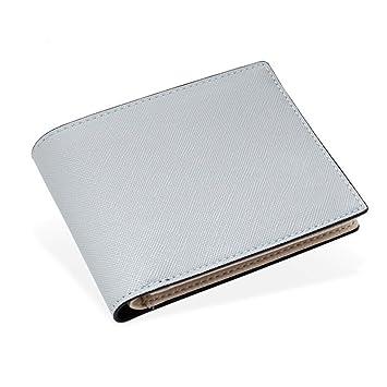 Zmsdt Billetera para Hombre Billetera para Hombre con Diseño De Moda Cartera para Hombre con Diseño De Rayas Cartera para Hombre (Color : Blanco): ...