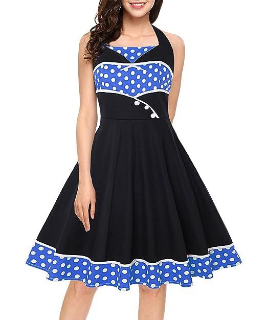 Babyonlinedress Neckholder 50er Jahre Petticoat Kleider