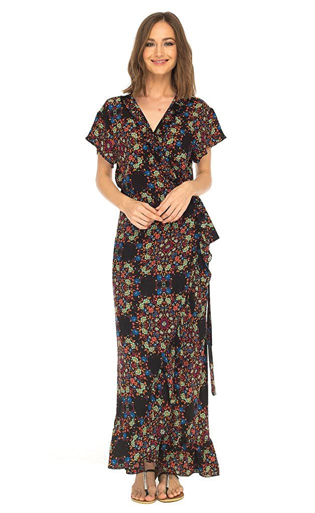6b4750cb8d LOVE A GREAT FIT  Looking for a summer dress thats adds flare to your  wardrobe and hugs your body just right  This floral wrap dress is ideal!