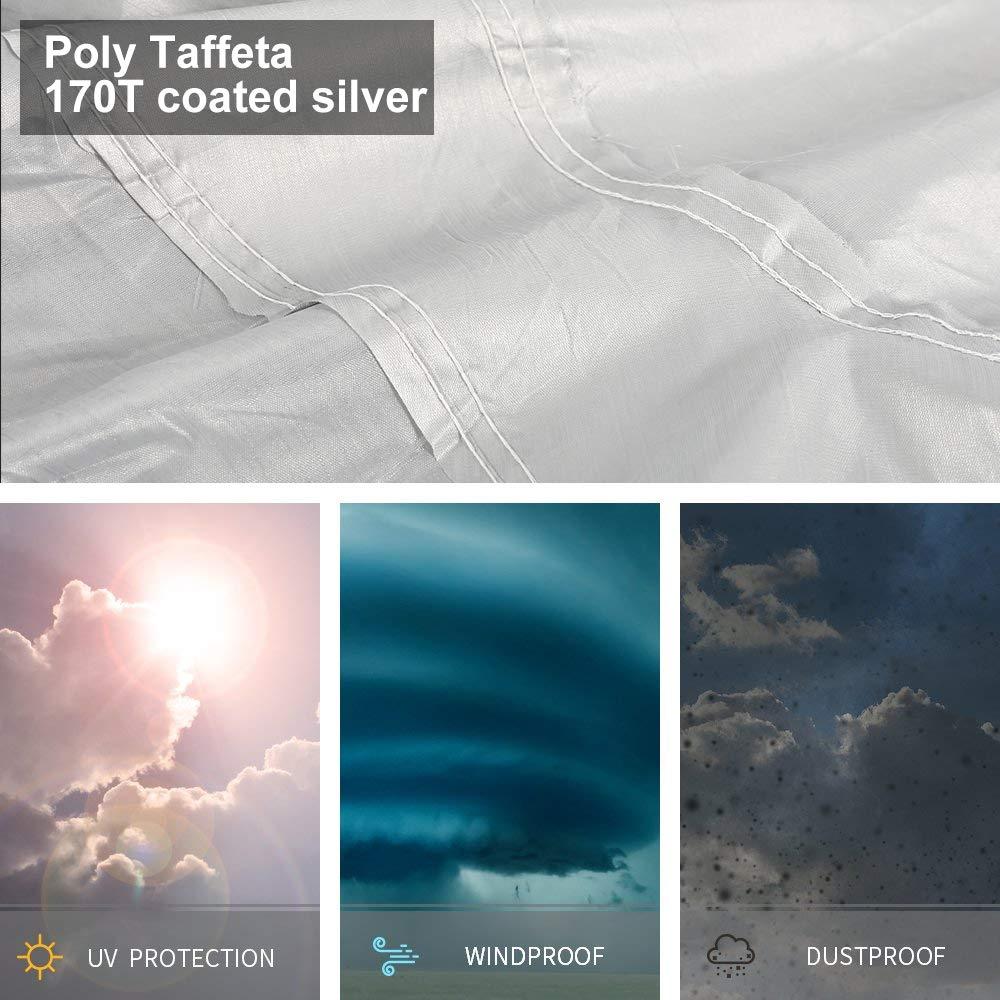 Protezione UV Protezione Anti Neve Telo copriauto Impermeabile e Traspirante Colore: Argento Stronghigh 470 x 180 x 150 cm