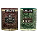 Kirkland Signature 100% Colombian Coffee and Dark Rost Fine Grind Decaf Arabica Coffee Bundle-Includes Kirkland Signature Colombian Coffee(3 LB) Kirkland Signature Decaf Arabica Coffee, 48 Ounce