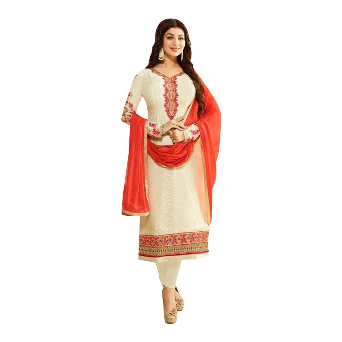 Amazon.com: Bollywood colección Georgette recto Salwar traje ...