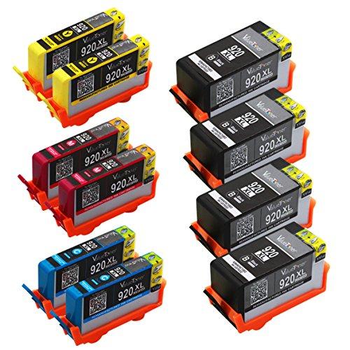 Valuetoner Remanufactured Ink Cartridge Replacement For Hewlett Packard HP 920XL High Yield CD975AN CD972AN CD973AN CD974AN (4 Black, 2 Cyan, 2 Magenta, 2 Yellow) 10 Pack