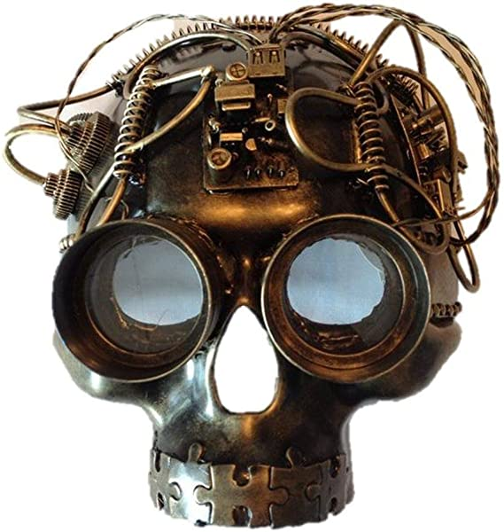 Kbw Gold Steampunk Kitty Cat Women/'s Costume Half Mask with Goggles Masquerade