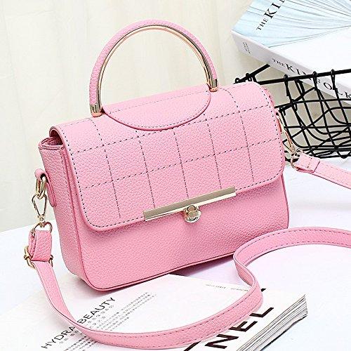 Haihuayan Bolso Bolsos De Mujer Bolsas De Cuerpo Cruzado Bolsa De Mano Femenina Top Handle Ladies Messenger Bag Bolsos De Hombro Para Niñas Adolescente, Gris pink