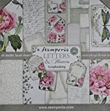 Stamperia Intl Letters & Flowers Double Sided Paper Pad (10/Pack), 12'' x 12''