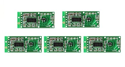WINGONEER Sensor de radar de microondas 5PCS RCWL-0516 Detector de placa de inducción humano de módulo de interruptor