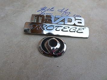 detailed images great deals 2017 catch Amazon.com: 93-95 Mazda Protege Rear Trunk Chrome Emblem ...