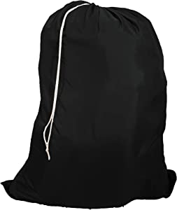 Owen Sewn Heavy Duty 40inx50in Nylon Laundry Bag (Black)