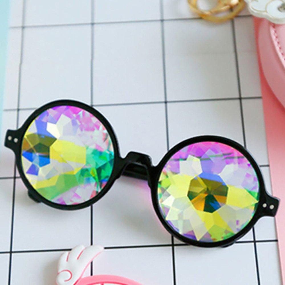 ☣Men women Glasses Rave Festival Party Sunglasses Diffracted Lens sunglasses