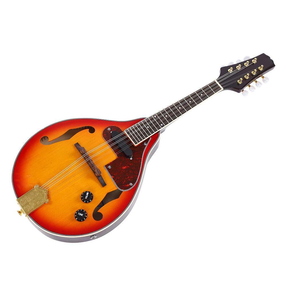 Acoustic Electric Mandolin 8 String Mandolin with Storage Bag Sunburst A Style Acoustic Electric Mandolin Musical Instrument
