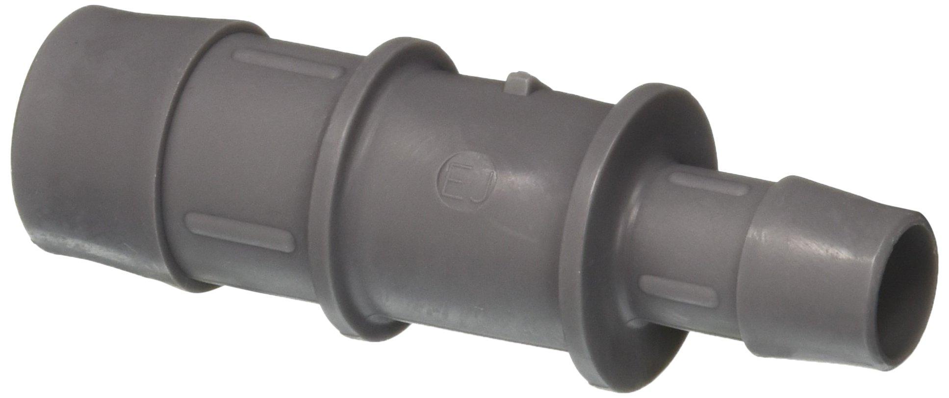 Eldon James C16-10PVDF Industrial Gray Kynar Reduction Coupler, 1'' Hose Barb to 5/8'' Hose Barb (Pack of 10)